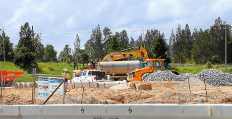 Construction is underway on the new Service Station on Tweed Valley Way.