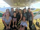 Students from the Dancing Stars Toowoomba school (back from left) Tahlia Cottler, Hayley Hielscher, Karinne Sharpley join (front from left) Molly Ledger, Mikaela Langdon, Sophie Mann, Chloe Ledger, Tiarna Clark and teacher Lauren Fickling at the Clifton Airfield annual Fly-in.