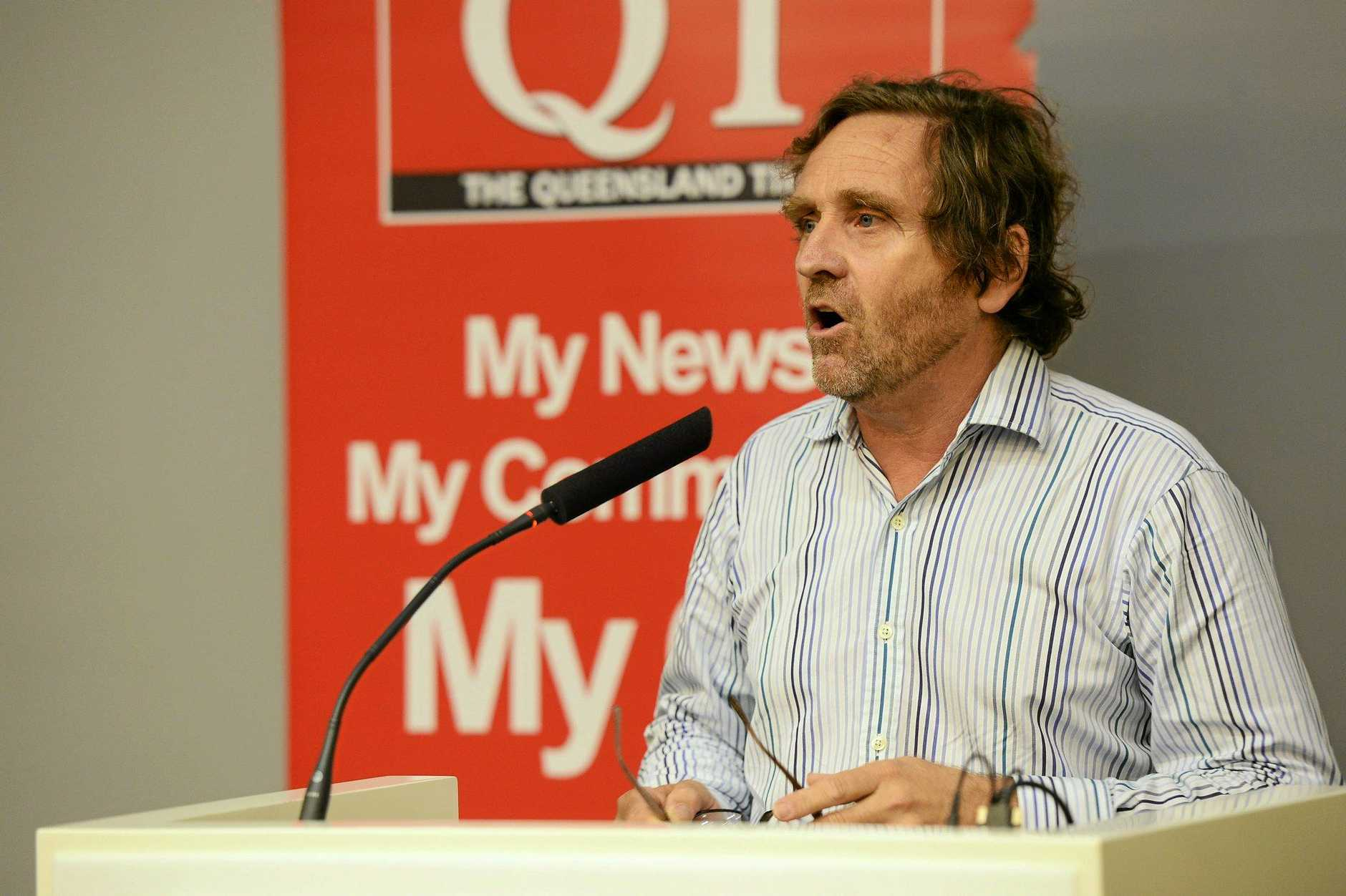 The Queensland Times Meet the Candidates forum at USQ Ipswich. Mayoral candidate Peter Luxton. Photo: David Nielsen / The Queensland Times