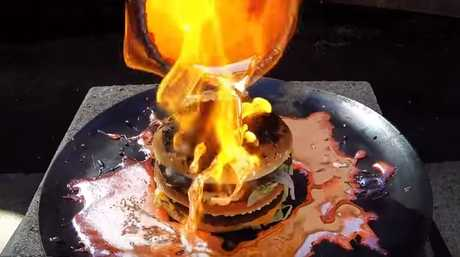 What happens when you try to set a Big Mac on fire with copper lava? Witchcraft, it turns out.
