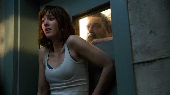 FOR REVIEW AND PREVIEW PURPOSES ONLY. Mary Elizabeth Winstead and John Goodman in a scene from the movie 10 Cloverfield Lane. Supplied by Paramount Pictures.