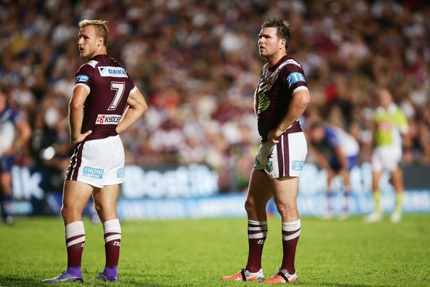 Daly Cherry-Evans looks dejected after the Sea Eagles' lastest defeat. Photo: AAP Image.