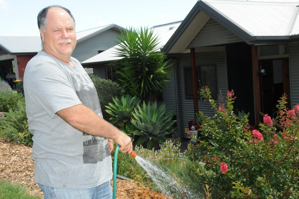 Ambrose Nicolson says the water is only fit for use in the garden.
