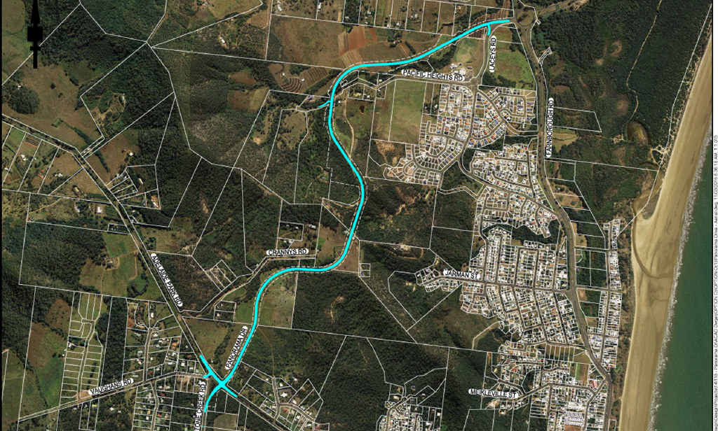 NETWORK: An aerial view of Panorama Dr's concept road plan.