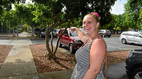 PARKING WOES: School mum Chantelle Riding says more parking options are needed at Meridan State College.