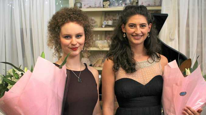 DYNAMIC DUO: Award-winning pianist Ayesha Gough and operatic soprano Petah Chapman performed to a sold-out crowd at Tyalgum's Flutterbies   Cafe on Saturday afternoon.