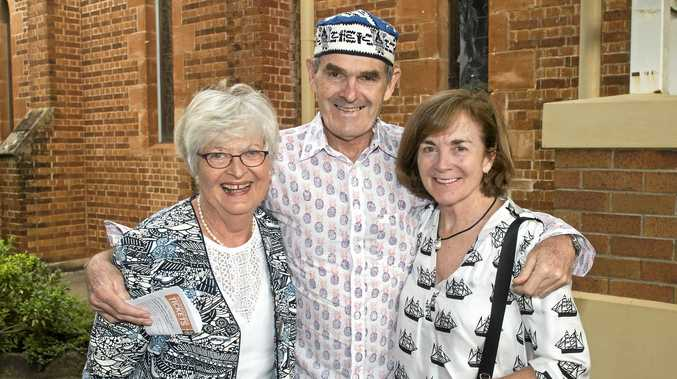 All smiles are (from left) Priscilla Brilliant with Nigel and Kath Brammer.