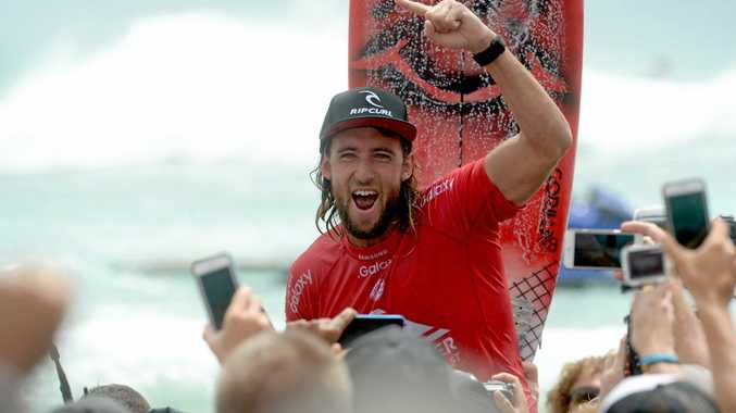 Byron Bay surfer Matt Wilkinson won the Quiksilver Pro against Kolohe Andino (USA) at Snapper Rocks on Wednesday afternoon, March 16, 2016.