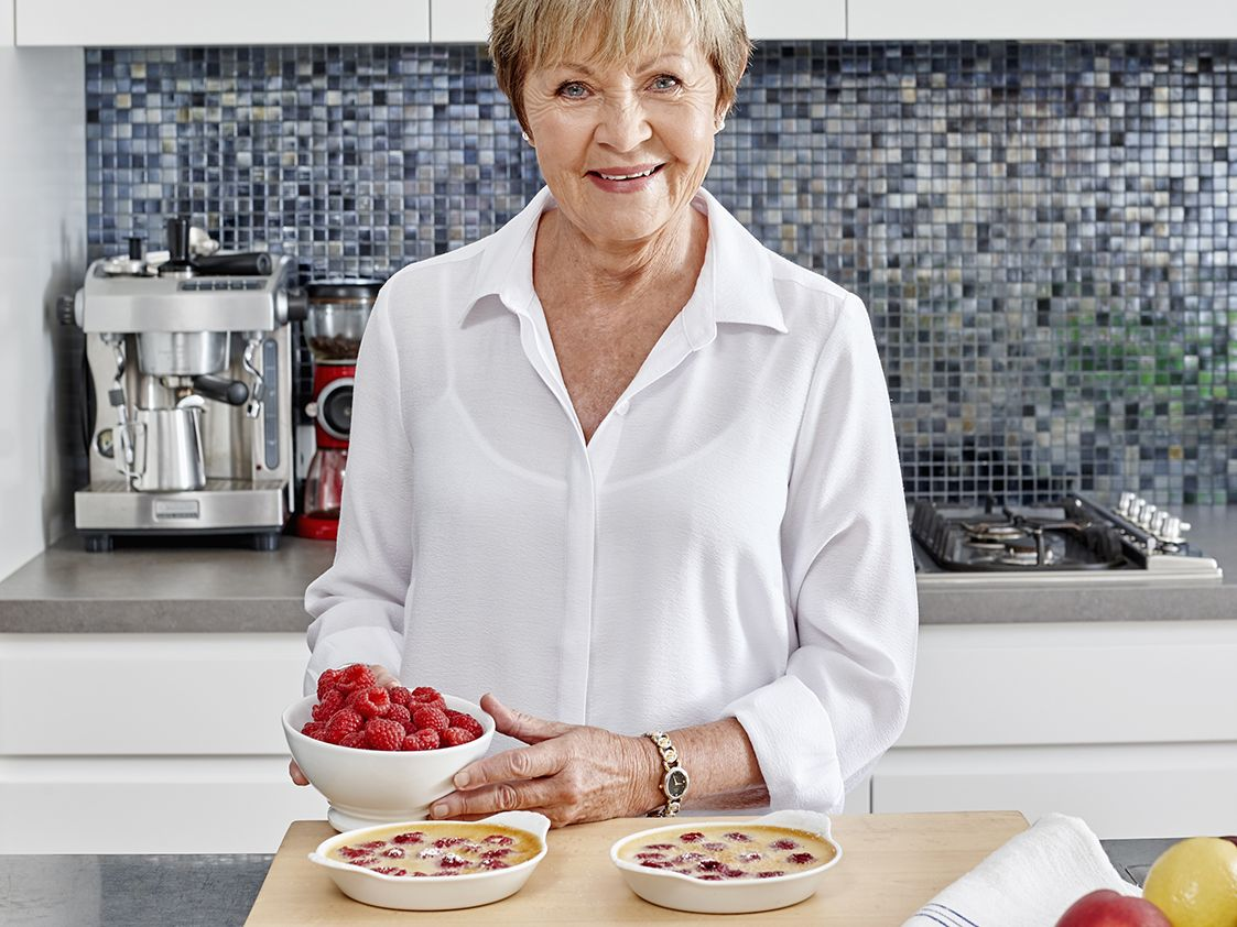 SWEET TREAT: Maureen Partridge makes the Bridges' Favourite Little Raspberry Custards from her meal & exercise plan with Pauls PhysiCAL.