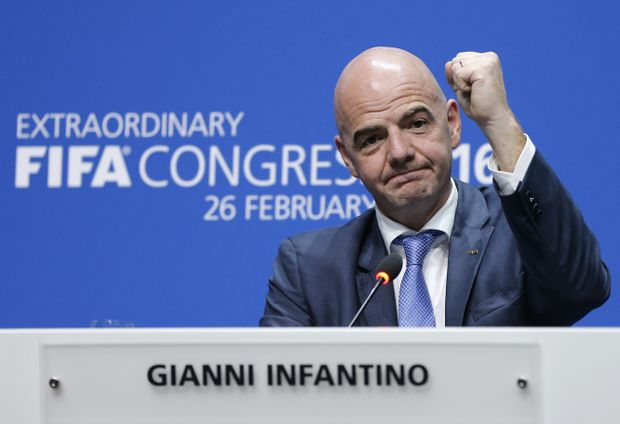 New FIFA president Gianni Infantino. Photo: AAP Image.