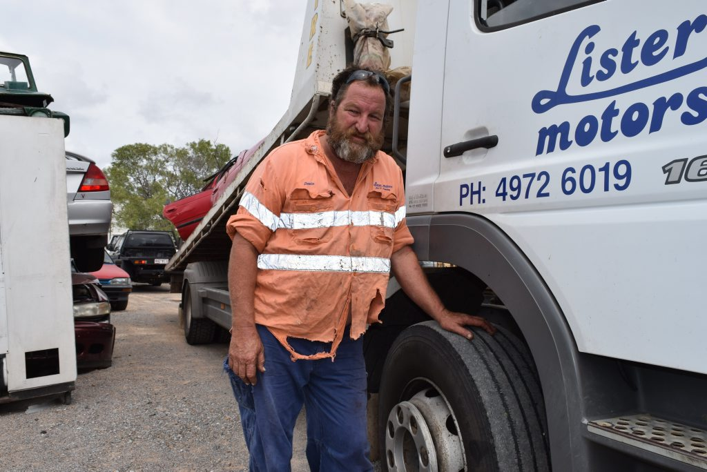 NOT HAPPY: Tow truck driver Anthony Dow knows all to well how bad the Bruce Hwy is. Photo Declan Cooley / The Observer