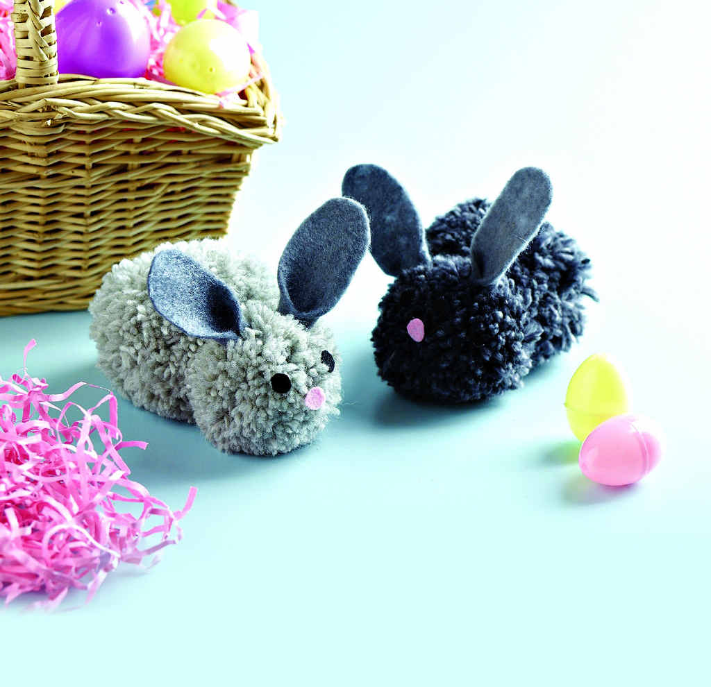 Cute bunnies are easy to make.