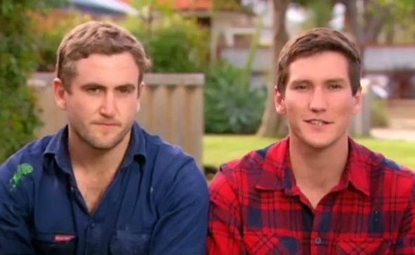 RENOVATORS: Darling Downs twins Luke and Cody Cook are competing in Crowded House Rules on Channel 7 .