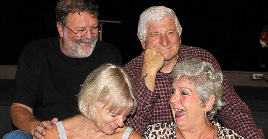LAUGH OUT LOUD: The cast of Don't I Know You From Somewhere? – Ian Rix, John Woodrow, Ruth Montgomery and Val Woodrow.