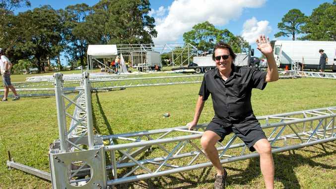 LOCAL LEGEND: Late Australian rock star, Jon English at Brelsford park where he performed at the Coffs Coast carols, one of his last performances.