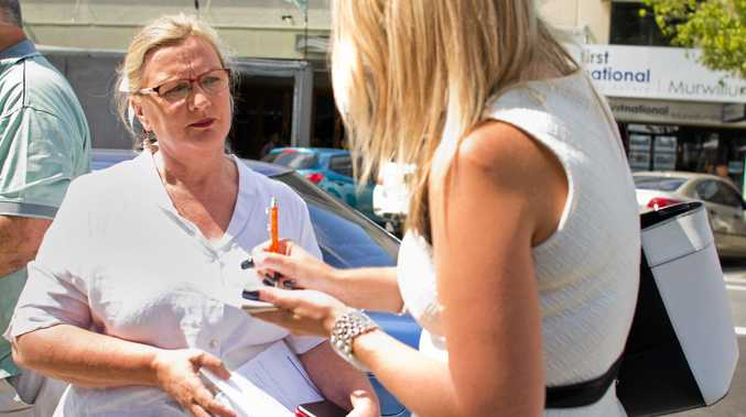 Councillor Carolyn Byrne outside Murwillumbah Local Court on November 24, 2015.Photo: Liana Turner / Tweed Daily News