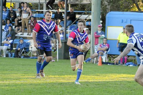 Group 2 rugby league match between the Grafton Ghosts and Macksville on Sunday at McGuren Park. Ghosts player Kieren Stewart with the ball during the match. Photo Debrah Novak / The Daily Examiner