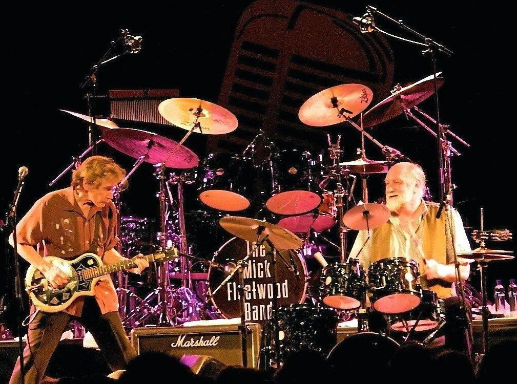 MUSIC LEGENDS: Guitarist Richard Francis 'Rick' Vito and drummer Mick Fleetwood together on stage.
