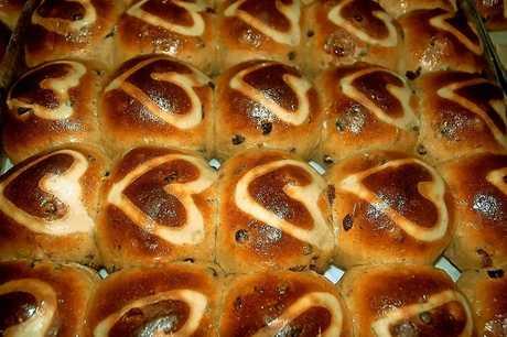 Heart Breads hot cross buns. PHOTO: KATE O'NEILL