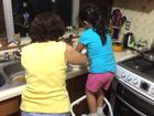 Mexican families are all about helping each other out. Even the five-year-old helps her abuela (grandma) prepare meals for the family and the students in a homestay.