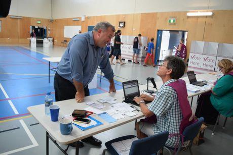Bundy Votes 2016: Voting at Norville School in Bundaberg.