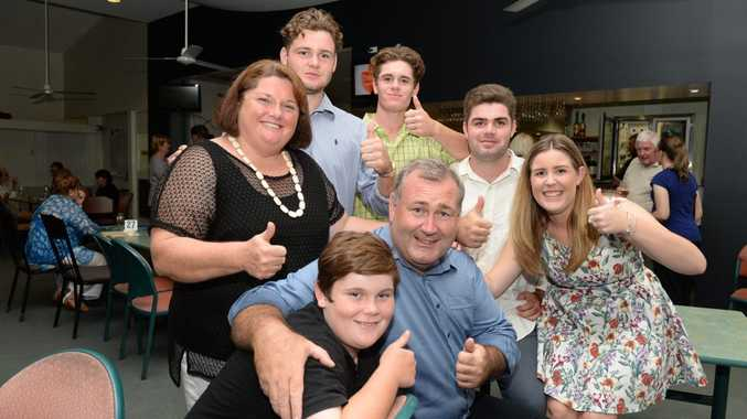 Jack Dempsey and family celebrate last night.