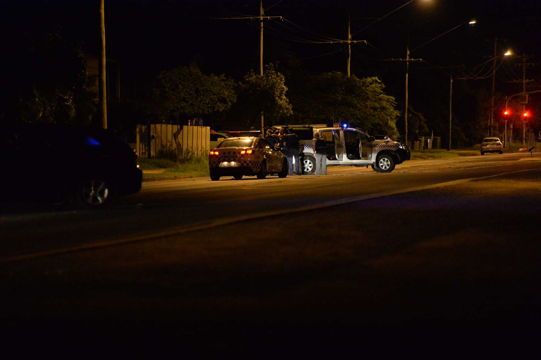 Police have blocked off paradise St after reports of a gunman held up in one of the homes