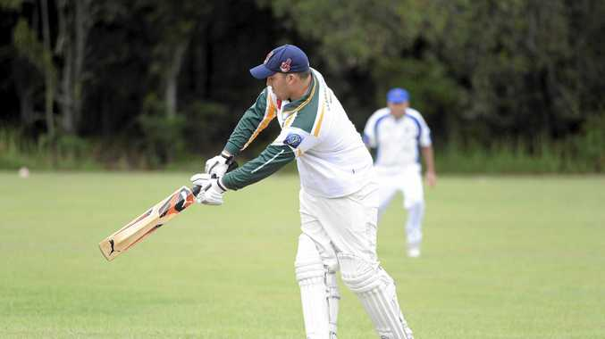 Wanderers batsman Brandon Honeybrook during the Lower Clarence Cricket Association match between Harwood and Wanderers at Iluka Oval on Saturday, 19th March, 2016. Photo Debrah Novak / The Daily Examiner