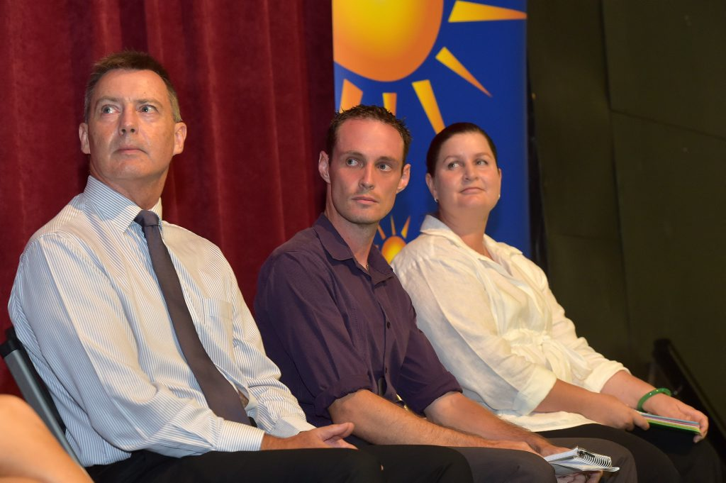 Sunshine Coast Election Forum for Division 8 and 9. Steve Robinson, Scott Larsen and Angela Wilson for Division 9.