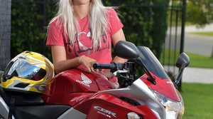 Cassie Lewis bought her first motorbike in November.