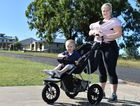 ACTIVE INSPIRATION: With son Alexander, who turns two on Mother's Day, and three week old daughter Ruby in tow, it is no sweat for Eliza to bring the kids to 'mum and bub' boot camps, women's fitness sessions, interval training and family walks along the Esplanade.