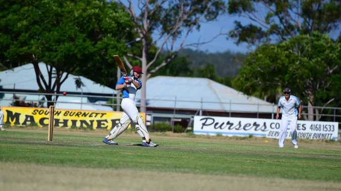 INNINGS WIN: Jared Sippel smashed a quick 39 to help the Crusaders win the first innings in the grand final.. Photo Keagan Elder / South Burnett Times
