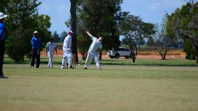ANOTHER WIN: Kumbia's Ryan Kelly bowls in the grand final against RSL Services, which they narrowly win. Photo Keagan Elder / South Burnett Times