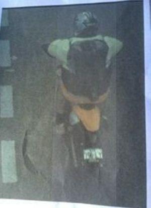 Speeding fine photo of the alleged offender.