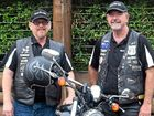 MENTAL HEALTH MISSION: Dave Schafer and Black Dog Ride state co-ordinator Mick 'Youngie' Young.