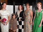 COSTUME DRAMA: Kait Manchip, Tahalia Edge, 7, Paris Williment, Debbie Strachan and Ayla Long take part in the fashion parade.
