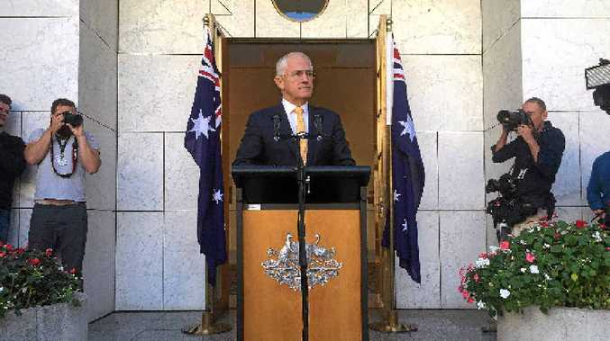 RATING DROP: The latest Newspoll shows Prime Minister Malcolm Turnbull's satisfaction rating has dropped. Mr Turnbull fronted media yesterday to announce a possible July 2 election.