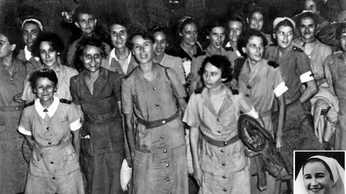 WAR'S END: Prisoner-of-war nurses who survived, (inset) Sister Jessie Jane Blanch.