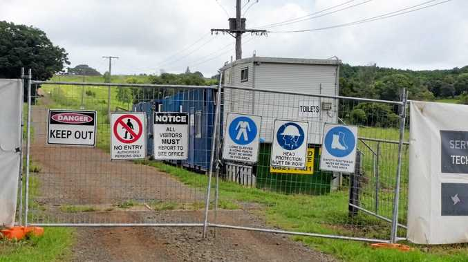The site entrance to the Wollongbar Sports Field Project.