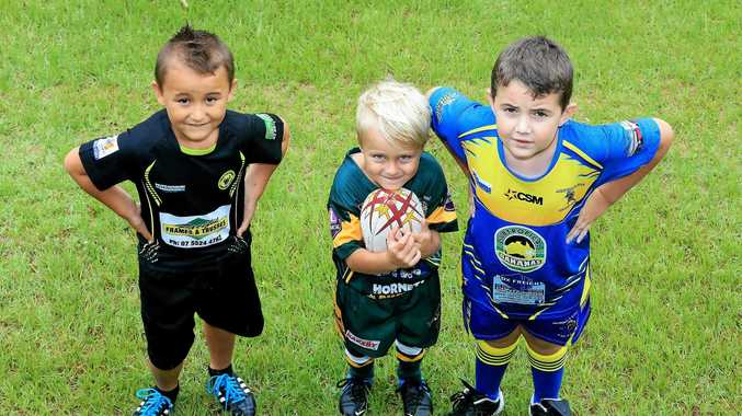 Sign-on competition winners Sonny Bill Hape, Tweed Coast Raiders, Kayden DeGroot, Cudgen and Jayden Nicholls, Murwillumbah, will be keen to grab new gear ahead of the upcoming Group 18 JRL season.