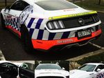 Ford Mustang overheats after 3 minutes of police testing