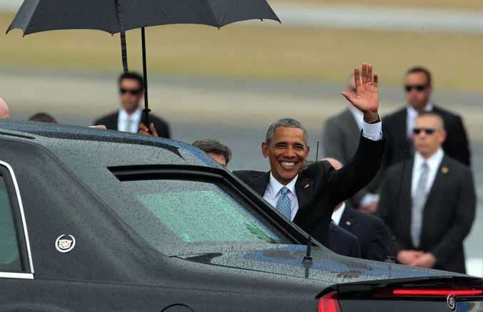 US President Barack Obama waves after his arrival on Jose Marti Airport in Havana. Photo: EPA