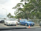 Three car crash on Fitzroy Bridge