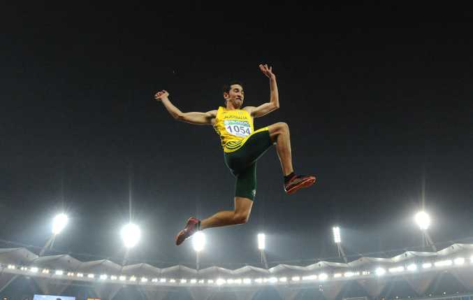 Australian long jumper Fabrice Lapierre is hoping the sky's the limit in Rio. Photo: AAP Image.