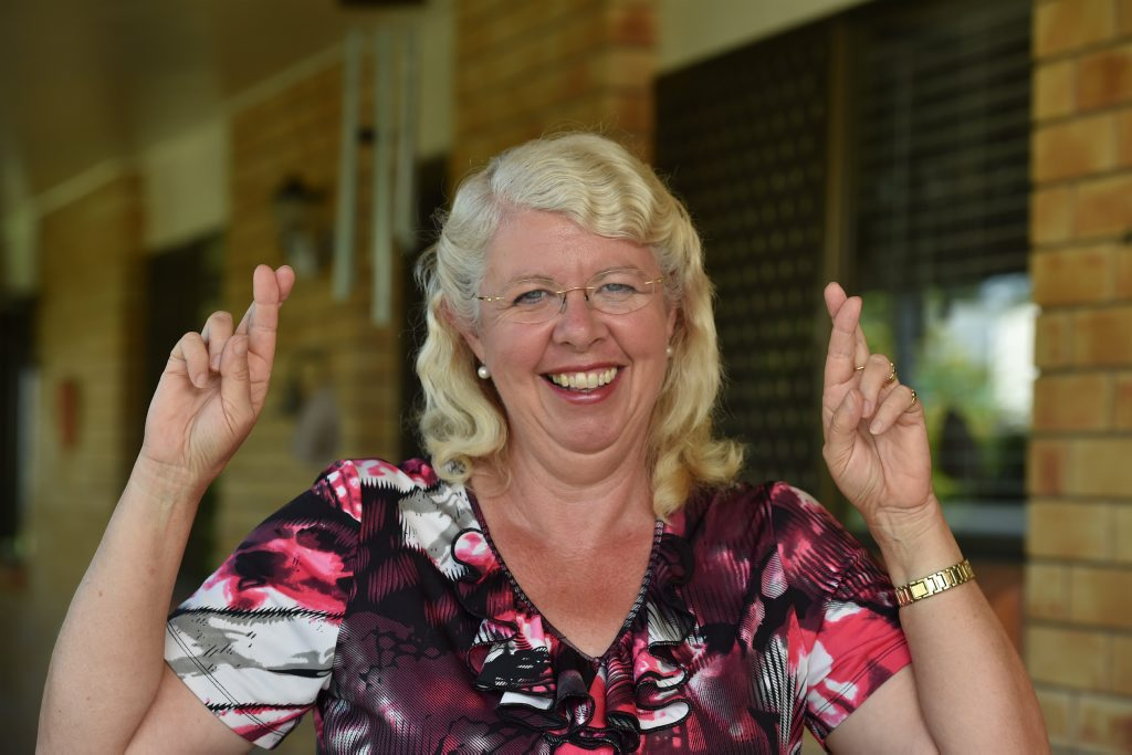 Anne Maddern can only keep her fingers crossed and wait for the final votes to be counted in her bid to win the division 2 seat. Photo: Alistair Brightman / Fraser Coast Chronicle