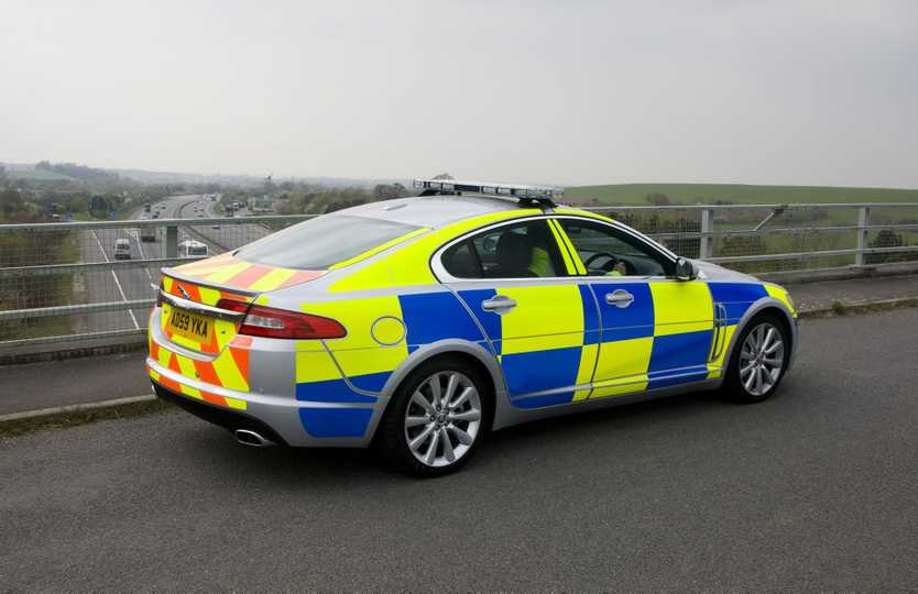 Jaguar XF police car as used in the UK. Photo: Contributed.