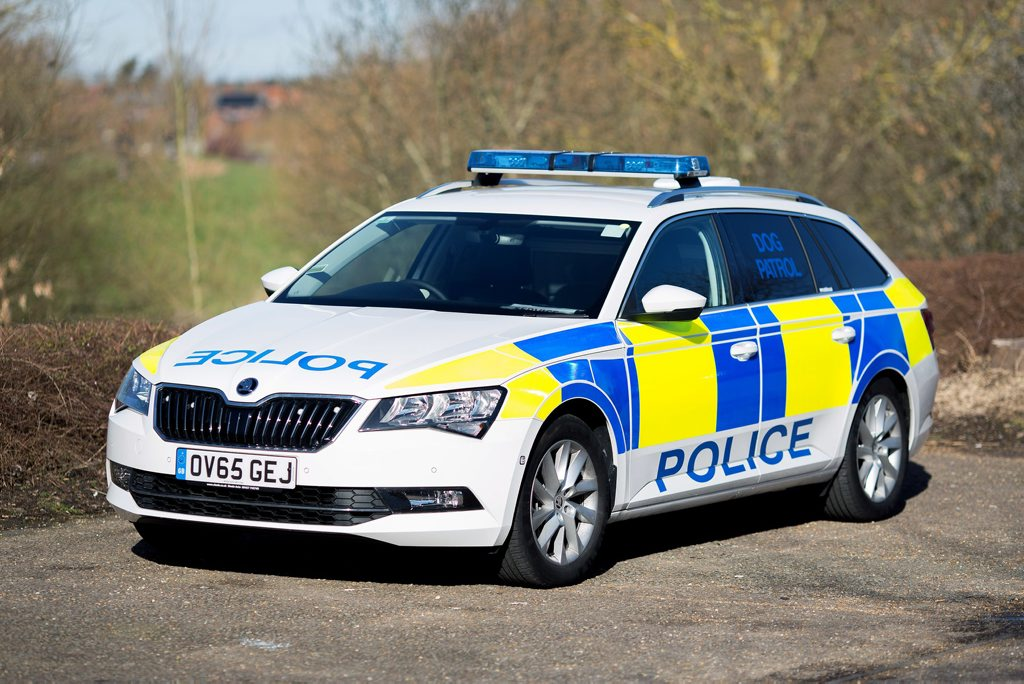 SENSIBLE CHOICE: Skoda Superb Wagon good enough for the UK police.