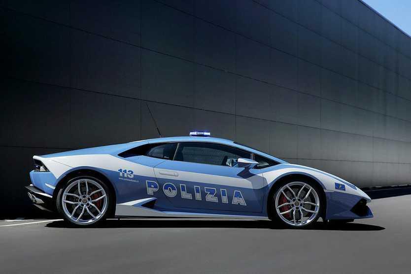 Italian State Police Lamborghini Huracan LP610-4. Photo: Contributed.