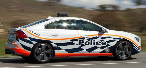 ACT Police's trial Volvo S60 T6 R-Design all-wheel drive sedan. Photo: Contributed.