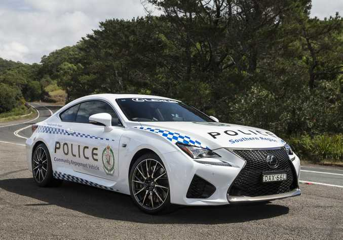Lexus RC F coupe on trial with the NSW Police Force. Photo: Contributed.